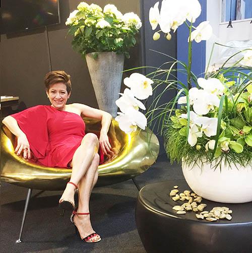 The designer Gabriela Rigamonti