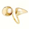 Anello con perla di fiume in oro 14kt.Wedding collection.designer Gabriela Rigamonti