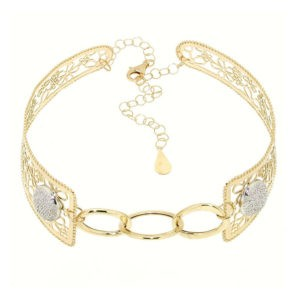 collana choker in oro giallo 14kt moresque collection