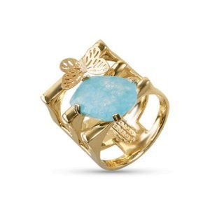Anello acqua marina in oro 14kt.Glitter Collection.designer Gabriela Rigamonti