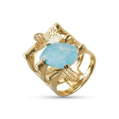 Anello acqua marina in oro 14kt.Glitter Collection.designer Gabriela Rigamonti