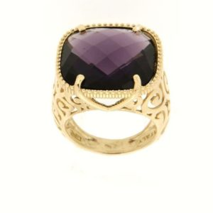 Anello ametista in oro14kt.Moresque Collection.Designer Gabriela Rigamonti