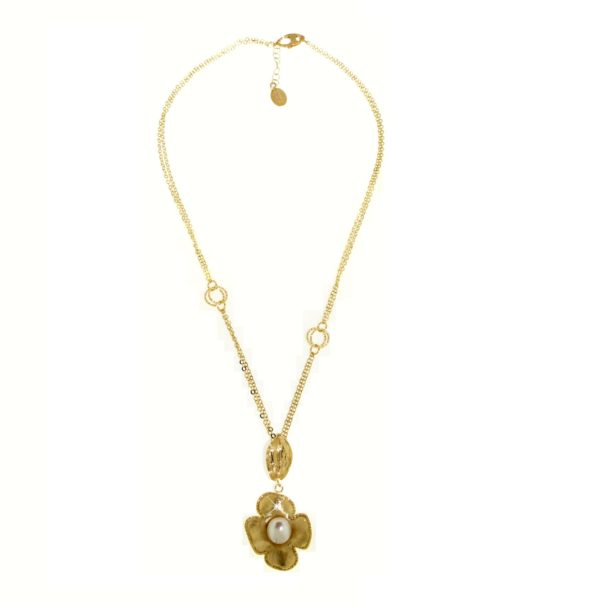 Collana perle oro 14kt.Designer Gabriela Rigamonti