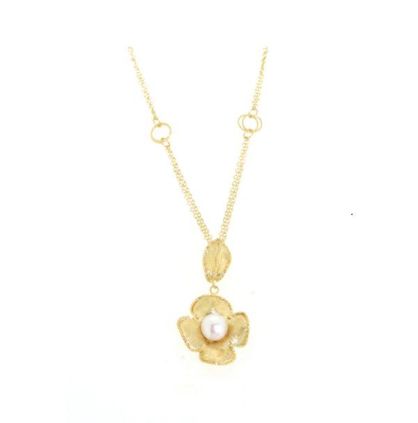 Collana perle in oro 14kt.Designer Gabriela Rigamonti