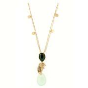 Collana oro gemme 14kt con gemme semipreziose e zirconi.Designer Gabriela Rigamonti