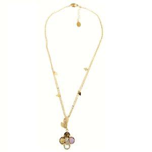 Collana gemme in oro giallo 18kt.Designer Gabriela Rigamonti