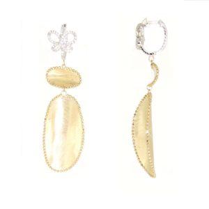Orecchini Diamanti in oro 18kt e brillanti.Luxury Collection.Designer Gabriela Rigamonti