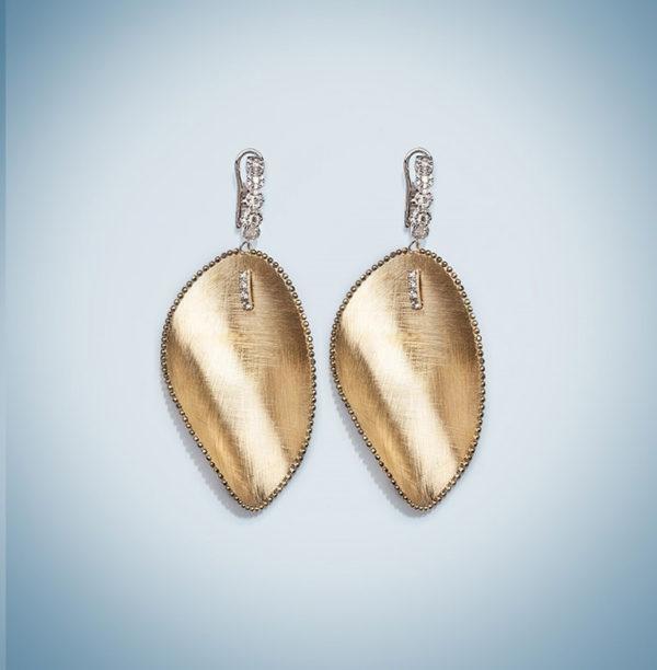 Orecchini brillanti in oro 18kt e diamanti.Luxury Collaction.Designer Gabriela Rigamonti