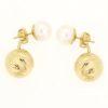 Orecchini perle in oro 14kt diamantato con perla di fiume.Designer Gabriela Rigamonti