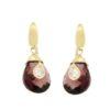 Orecchini gemme con cubic zirconi e morganite in oro 14Kt.Rainbow Collection.designer Gabriela Rigamonti