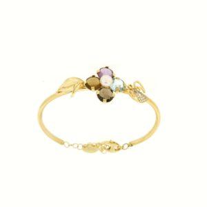 Braccialetto Oro Rainbow Collection.Designer Gabriela Rigamonti