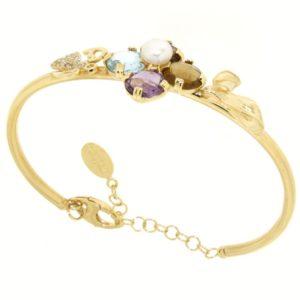 Braccialetto Oro giallo 14kt Rainbow Collection.Designer Gabriela Rigamonti