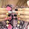 Orecchini in oro 14kt con perla di fiume