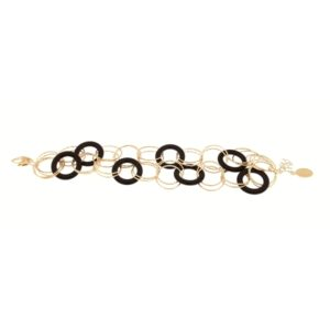 Bracciale oro giallo e Onice nera -Moresque Collection Disponibile in oro 14Kt e 18Kt