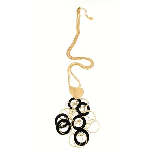 Collana oro giallo e Onice nera -Moresque Collection Disponibile in oro 14Kt e 18Kt