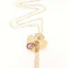Collana fiore in oro giallo 14 kt con ametista