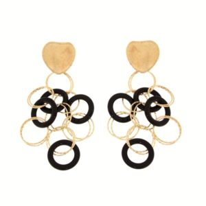 Orecchini oro giallo e Onice nera -Moresque Collection Disponibile in oro 14Kt e 18Kt