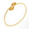 Bracciale Oro giallo con gemma di lemon quartz.Moresque Collection.Designer Gabriela Rigamonti